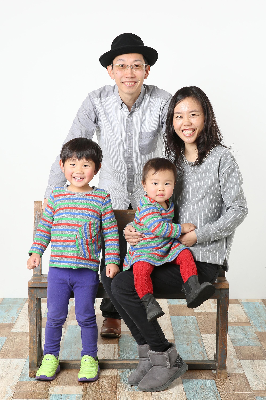 家族で楽しく撮影