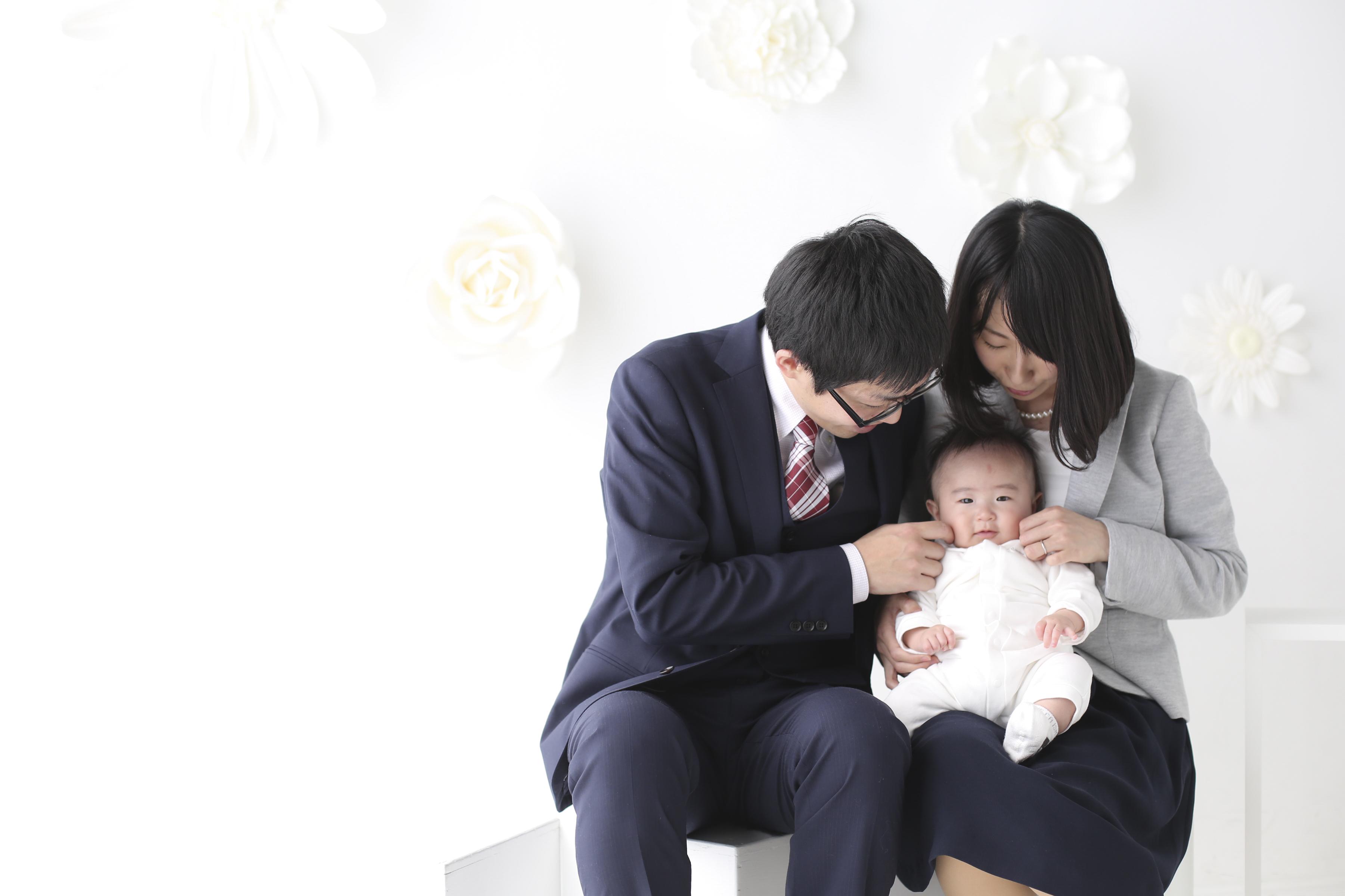 オシャレな家族写真