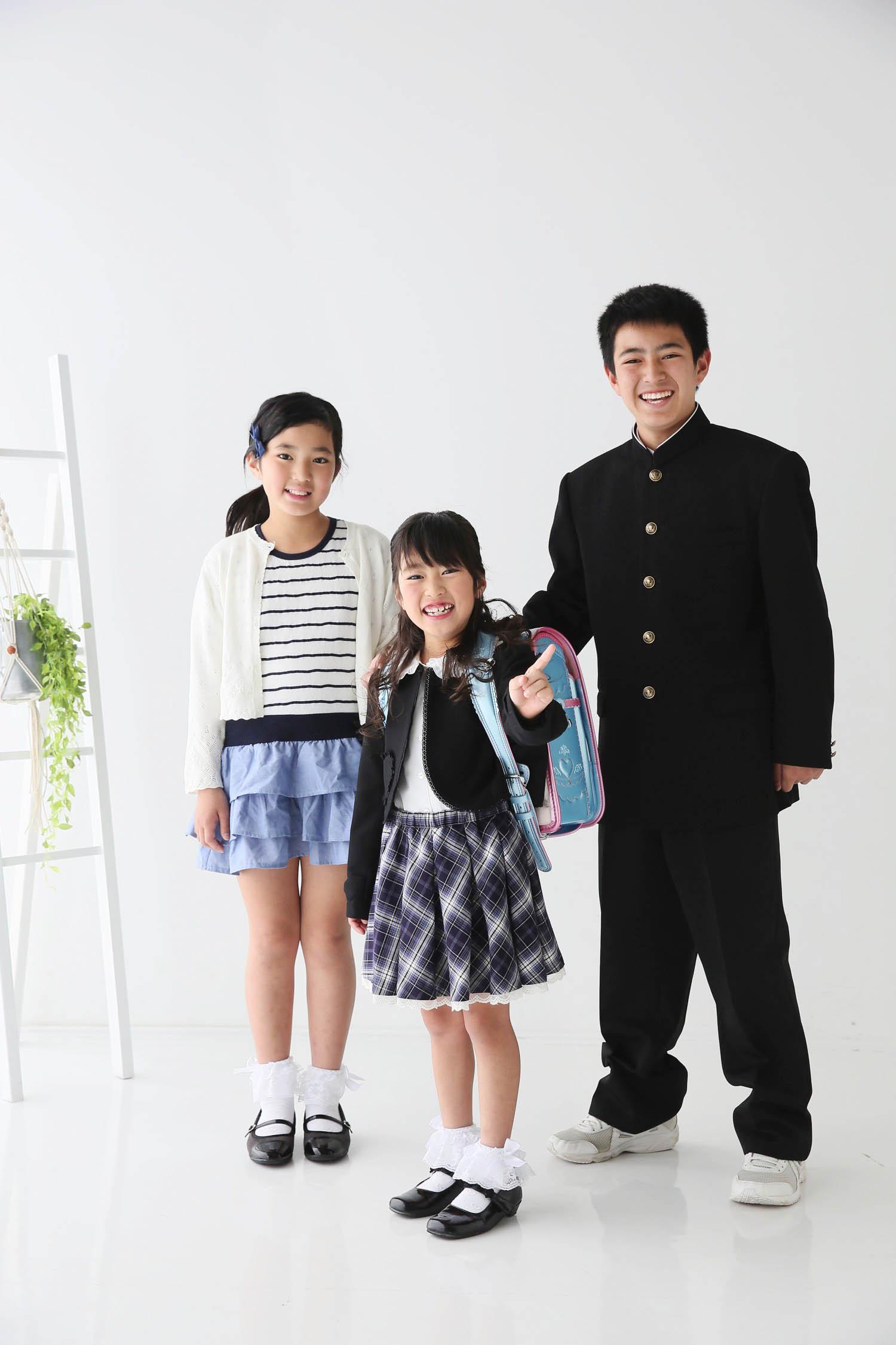 入学記念の写真