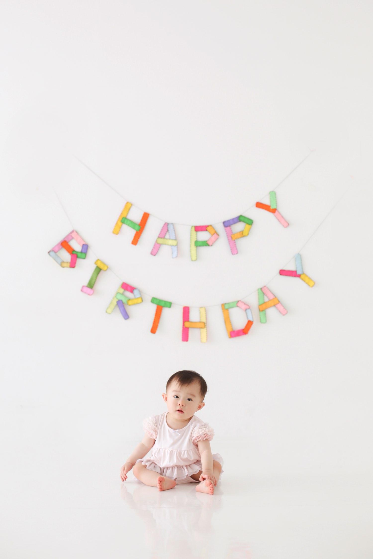 オシャレなお誕生日写真