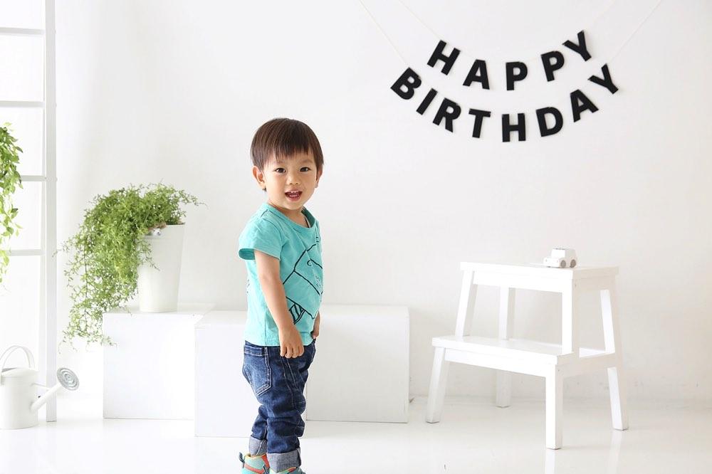 お誕生日の可愛い写真