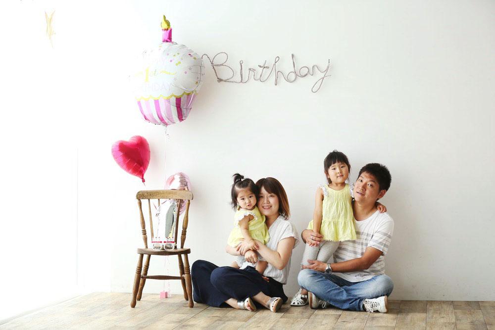 家族で写真撮影