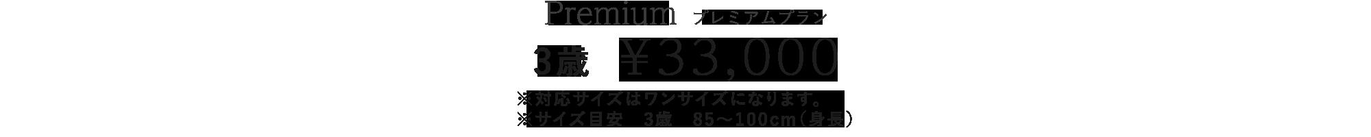 3歳33,000円プラン